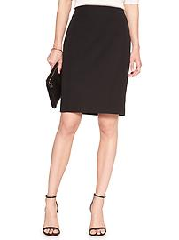 Machine Washable Classic Black Bi-Stretch Tailored Pencil Skirt