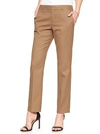 Machine Washable Ryan Camel Slim Straight Pant