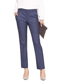 Machine Washable Ryan Curvy Chambray Slim Straight Pant