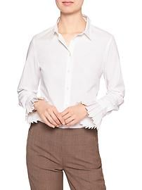 Pleat-Cuff Tailored Shirt