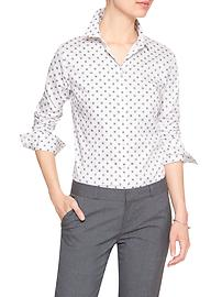 Print Tailored Non-Iron Shirt
