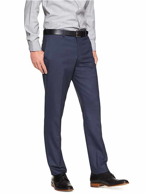 Slim-Fit Stretch Navy Trouser