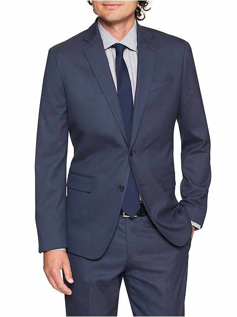 Slim-Fit Stretch Navy Blazer