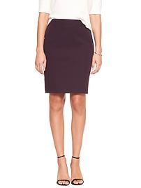 Pop Color Bi-Stretch Tailored Pencil Skirt