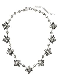 Grey Pearl Statement Necklace