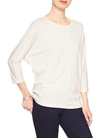 3/4-Sleeve Dolman Top