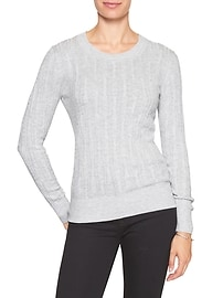 Cable Scoop-Neck Sweater