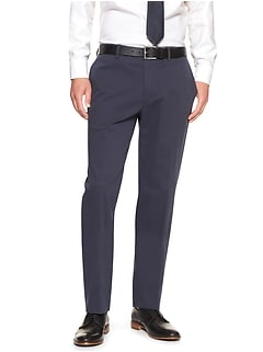 Non-Iron Slim-Fit Stretch Blue Texture Dress Pant
