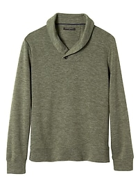 Brushed Shawl Collar Pullover