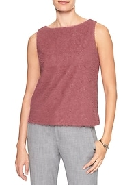 Sleeveless Bouclé Top