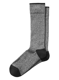 Marled Contrast Knit Performance Sock