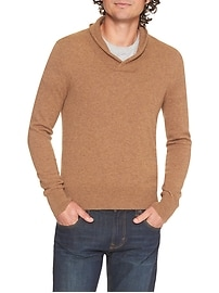 Cashmere Shawl Collar Sweater