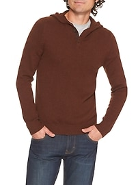 Henley Hooded Sweater