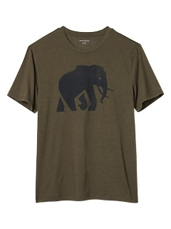 Elephant Graphic T Shirt