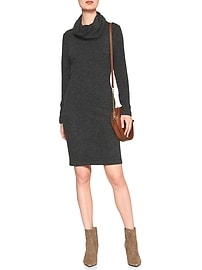 Marled Cowl Turtleneck Dress