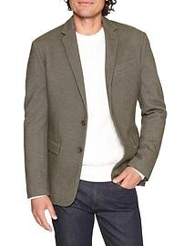 Slim-Fit Cotton Olive Green Blazer
