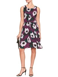 Magnolia Tie-Waist Fit and Flare Dress
