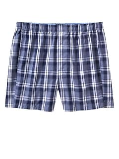 Blue Gray Plaid Boxers
