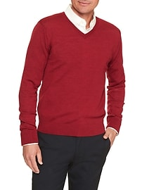 Machine Washable Merino Vee Sweater
