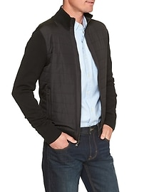 Quilted Channel Zip-Up Jacket