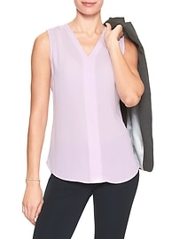 Double Layer Trim V-Neck Top