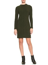 Ribbed Mock Sweater Dress