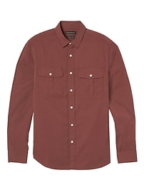 Camden Standard-Fit Stretch-Cotton Double-Pocket Camp Shirt
