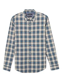 Camden Standard-Fit Custom-Wash Plaid Shirt