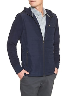 Quilted Microfleece Hooded Jacket