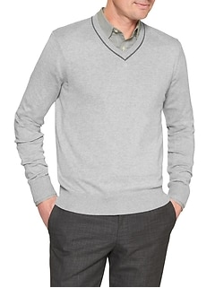 Premium Luxe Vee Neck Sweater