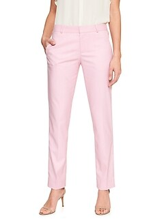 Ryan Pink Twill Slim Straight Suit Pant