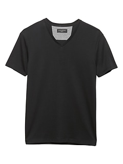 Solid Vee Dress T Shirt