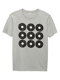 Multi Records Graphic Tee