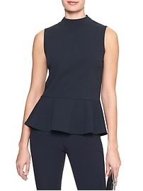 Mock Neck Peplum Tank