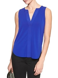 Piped V-Neck Tank