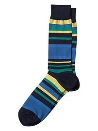 Variegated Block Stripe Sock