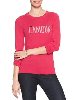 L'Amour Machine Washable Forever Scalloped Neck Pullover Sweater