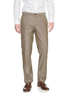 Aiden Slim-Fit Khaki Dobby Pant