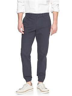 Hybrid Slim-Fit Stretch Navy Trouser