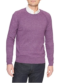 Heather Raglan Crew Sweater