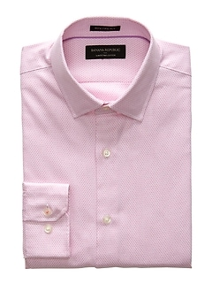 Slim-Fit Premium Cotton Pink Shirt