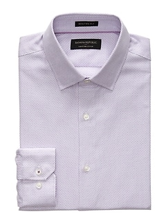 Slim-Fit Premium Pima Purple Shirt