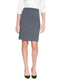 Chevron Knit Pencil Skirt