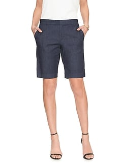 Tailored Denim Bermuda Short
