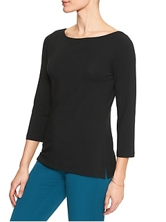 3/4 Sleeve Timeless Boatneck Top