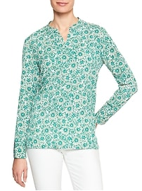 Print Notch Neck Tunic