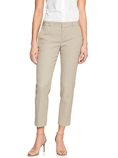 Avery Circle Jacquard Tailored Ankle Pant