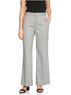 Blake Grey Herringbone Wide Leg Pant