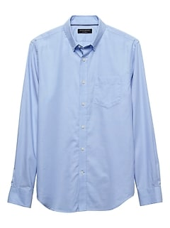 Slim-Fit Stretch Oxford Light Blue Shirt