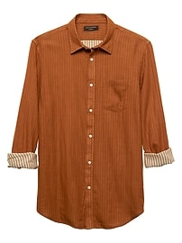 Standard-Fit Copper Double Weave Shirt